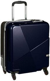 ヒデオワカマツ スーツケース マックスキャビンEX 8576582 ネイビー×ブラウン [42L]