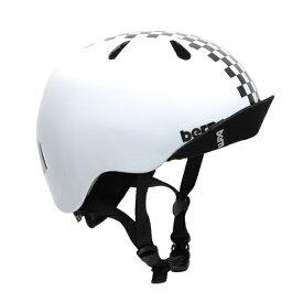 BERN バーン キッズ向けボーイズヘルメット bern NINO Gloss Checker Black (S/Mサイズ:51.5〜54.5cm) VJBWBC-12