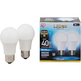 アイリスオーヤマ IRIS OHYAMA IRIS LED電球 E26 広配光 40形相当 昼白色 2個セット LDA4N-G-4T52P