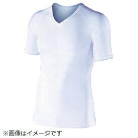 おたふく手袋 OTAFUKU GLOVE おたふく BT冷感 パワーストレッチ 半袖Vネックシャツ ホワイト L JW-622-WH-L