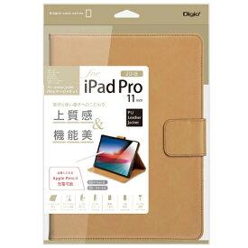 ナカバヤシ Nakabayashi iPadPro11inch(2018)用PUレザージャケット キャメル