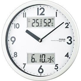 ノア精密 NOA 掛け時計 【MAG(マグ)】 ホワイト W-631WH