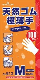 ショーワグローブ SHOWA ショーワ No813天然ゴム極薄手袋 100枚入 Mサイズ NO813-M
