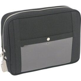 SANEI 三栄産業 SANEI 帆布メール用ポーチ(L)SED−1錠付 黒 PL-SED-01