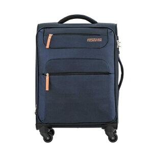 アメリカンツーリスター American Tourister SKI SPINNER 55/20 TSA 超軽量スーツケース ネイビー/オレンジ [35/37L]