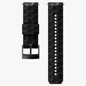 スント SUUNTO 時計関連品/腕時計替えベルト SUUNTO 24MM EXPLORE 2 SILICONE BLACK BLACK STRAP M SS050158000 ブラック