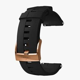 スント SUUNTO 時計関連品/腕時計替えベルト 24 ATH4 SILICONE STRAP BLACK/COPPER M SS023313000 ブラック