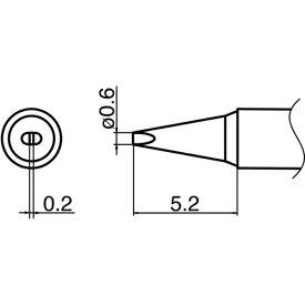 白光 HAKKO 白光 こて先 0.6D型 T35-02D06