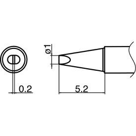 白光 HAKKO 白光 こて先 1D型 T35-02D1