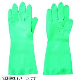 トラスコ中山 TRUSCO 天然ゴム厚手手袋 裏毛なし Mサイズ グリーン TNGG45-M