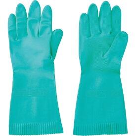 トラスコ中山 TRUSCO 天然ゴム厚手手袋 裏毛なし Lサイズ グリーン TNGG45-L