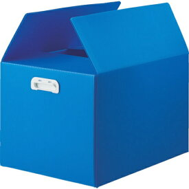 トラスコ中山 TRUSCO ダンボールプラスチックケース 5枚セット B3サイズ 取っ手穴なし ブルー TDP-B3D-5B