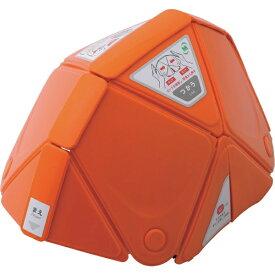 ミドリ安全 MIDORI ANZEN ミドリ安全 防災用折りたたみヘルメット フラットメット TSC−10 オレンジ TSC-10-OR