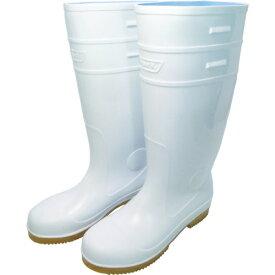 日進ゴム NISSIN RUBBER 日進 耐滑先芯入り長靴 白 25.0cm V4500W-25.0