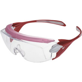 ミドリ安全 MIDORI ANZEN ミドリ安全 ミドリ安全 小顔用タイプ保護メガネ オーバーグラス VS−303F ピンク VS-303F-PK