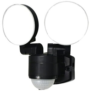 ELPA エルパ 屋外用LEDセンサーライト AC電源 2灯 ESL-SS412AC [白色 /コンセント式]