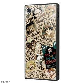 イングレム Ingrem iPhone SE(第2世代)4.7インチ/ iPhone 8 / 7 /ワンピース/耐衝撃ガラスケース KAKU IQ-OP7K1B/OP001 手配書