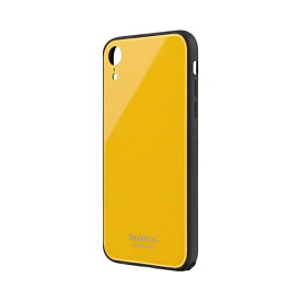 MSソリューションズ iPhone XR 背面ガラスシェルケース「SHELL GLASS」 LP-IPMGSYE イエロー