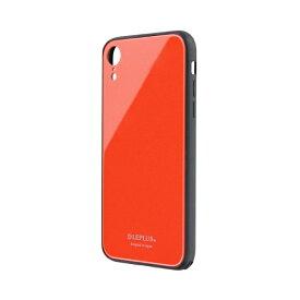 MSソリューションズ iPhone XR 背面ガラスシェルケース「SHELL GLASS」 LP-IPMGSCO コーラル