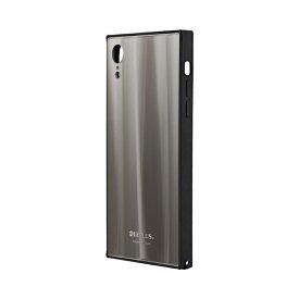 MSソリューションズ iPhone XR 背面ガラスシェルケース「SHELL GLASS SQUARE」 LP-IPMGSQSV シルバー