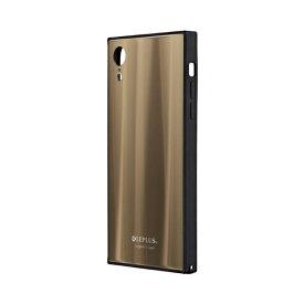MSソリューションズ iPhone XR 背面ガラスシェルケース「SHELL GLASS SQUARE」 LP-IPMGSQGD ゴールド