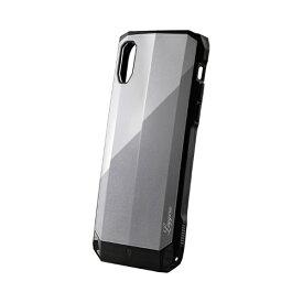 MSソリューションズ iPhone XR 耐衝撃ハイブリッドケース「LEGGERA」 LP-IPMHVLXGY プラチナGY