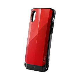 MSソリューションズ iPhone XR 耐衝撃ハイブリッドケース「LEGGERA」 LP-IPMHVLXRD サファイヤRD