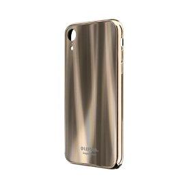 MSソリューションズ iPhone XR 背面ガラスシェルケース「SHELL GLASS PREMIUM」 LP-IPMHVLXGD ゴールド