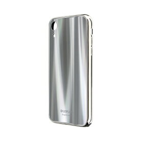 MSソリューションズ iPhone XR 背面ガラスシェルケース「SHELL GLASS PREMIUM」 LP-IPMHVLXSV シルバー