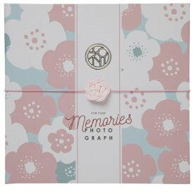 チクマ Chikuma お祝い写真台紙V-700(祝) 2L2面 ピンク 15516-4 ピンク [タテヨコ兼用 /2Lサイズ・キャビネサイズ /2面]