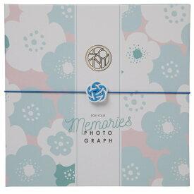 チクマ Chikuma お祝い写真台紙V-700(祝) 2L2面 ブルー 15518-8 ブルー [タテヨコ兼用 /2Lサイズ・キャビネサイズ /2面]