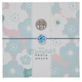 チクマ Chikuma 寿写真台紙V-700(寿) 2L2面 ブルー 15522-5 ブルー [タテヨコ兼用 /2Lサイズ・キャビネサイズ /2面]