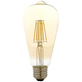 アイリスオーヤマ IRIS OHYAMA LEDフィラメント電球 琥珀調キャンドル色 60形相当 LDF7C-G-FK
