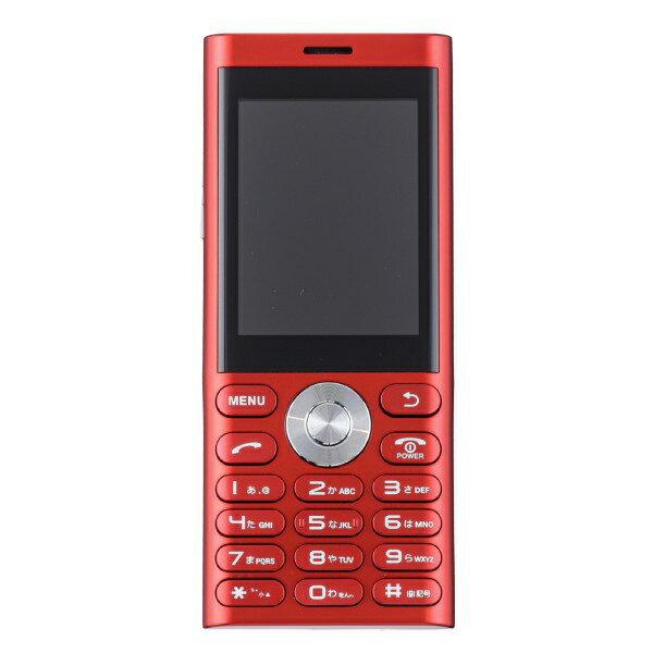 【2019年05月16日発売】 UNMODE un.mode phone01「UM-01R」レッド 2.4型・標準SIMx1 ドコモ/ソフトバンク3G対応 SIMフリー携帯電話[UM01R]