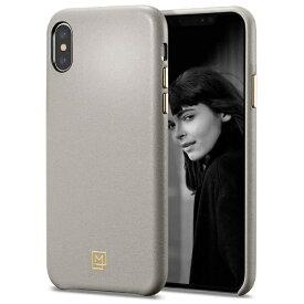 SPIGEN シュピゲン iPhone XS MAX Case La Manon calin Oatmeal Beige (Leather Case)