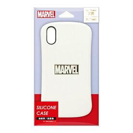 PGA iPhone XR用 シリコンケース PG-DCS581MVL ホワイト&ゴールド