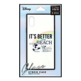 PGA iPhone Xs/X用 ガラスハイブリッドケース PG-DCS661MKY ミッキーマウス/ホワイト