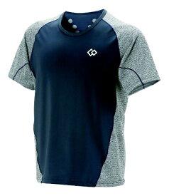 コラントッテ Colantotte メンズ シャツ コラントッテ レスノ スイッチングシャツショートスリーブ(Lサイズ/グレー×ネイビー) AJDJB68L