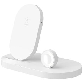 BELKIN ベルキン F8J235DQWHT BOOST↑UP Wireless Charging Dock for iPhone + Apple Watch + USB-A port ホワイト[F8J235DQWHT]