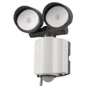 オーム電機 OHM ELECTRIC LEDセンサーライト AC電源 2灯