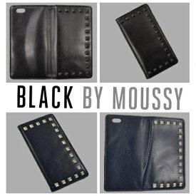 エムディーシー MDC iPhone6 (4.7) BLACK BY MOUSSYケース スタッズ付レザー