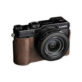 Ya Mei Technology ヤ メイ テクノロジー パナソニック LX100 II用革製カメラボディケース TB06LX102CO ダークブラウン TB06LX102CO ダークブラウン