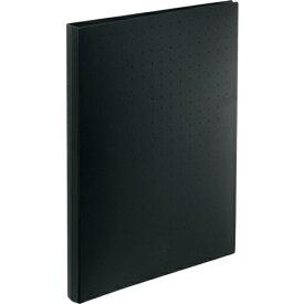 リヒトラブ LIHIT LAB. リヒト 名刺帳(ポケット交換タイプ)500カード 黒 A5043-24