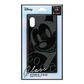 PGA iPhone XR用 ガラスハイブリッドケース PG-DCS670MKY ミッキーマウス/ブラック