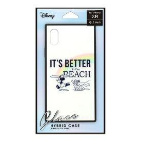 PGA iPhone XR用 ガラスハイブリッドケース PG-DCS671MKY ミッキーマウス/ホワイト