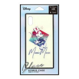 PGA iPhone XR用 ガラスハイブリッドケース PG-DCS672MNE ミニーマウス