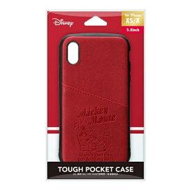 PGA iPhone Xs/X用 タフポケットケース PG-DCS680MKY ミッキーマウス/レッド