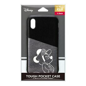 PGA iPhone Xs/X用 タフポケットケース PG-DCS683MKY ミッキーマウス/ブラック