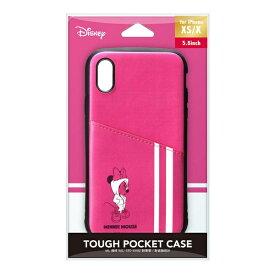 PGA iPhone Xs/X用 タフポケットケース PG-DCS685MNE ミニーマウス