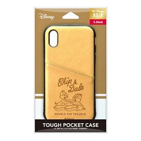 PGA iPhone Xs/X用 タフポケットケース PG-DCS687CPD チップ&デール